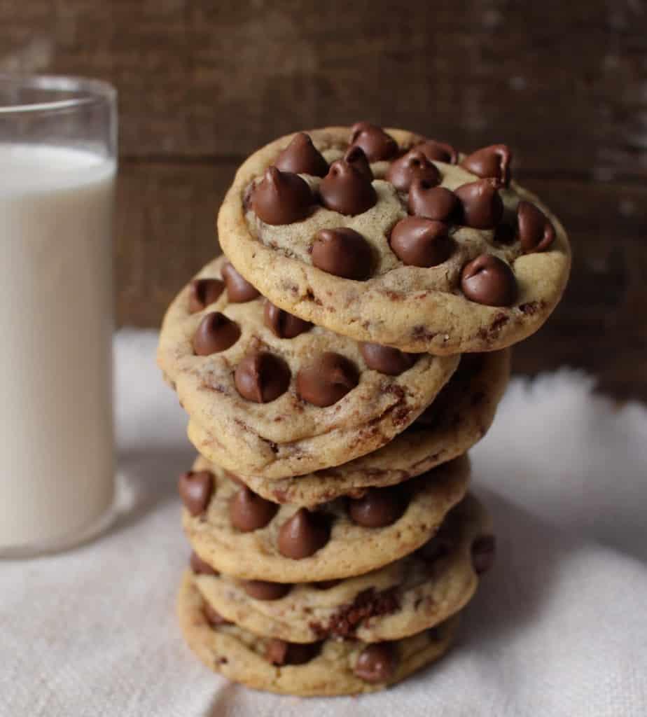Brownie Brittle Chocolate Chip Cookies