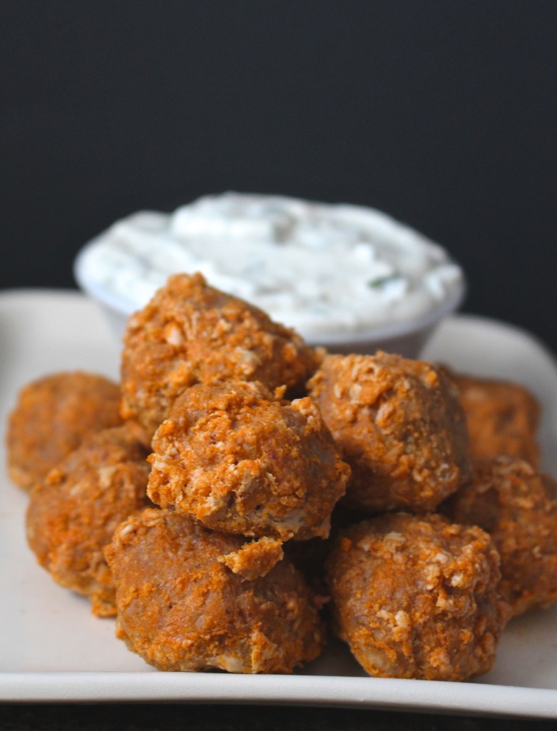 Buffalo Meatballs with Ranch- Paleo and Whole30