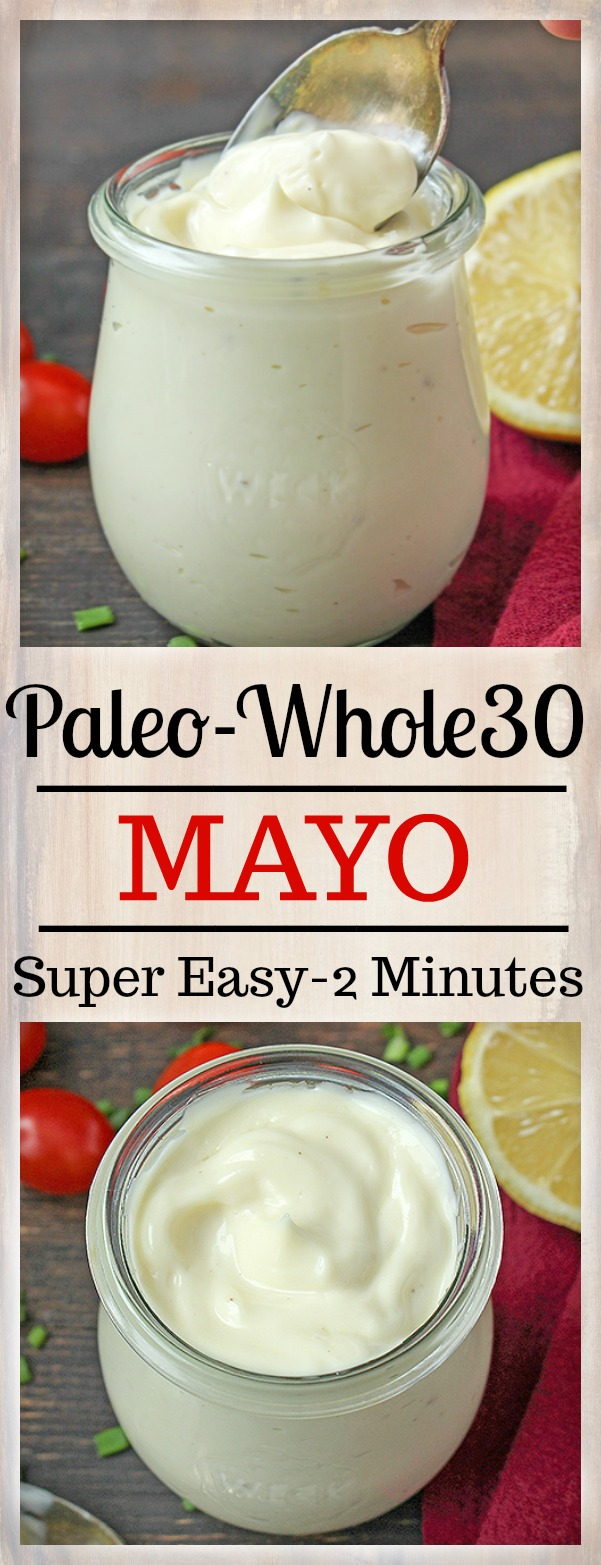 This creamy Paleo Whole30 Mayo comes together quickly and tastes so much better than store bought. This will become your new favorite.