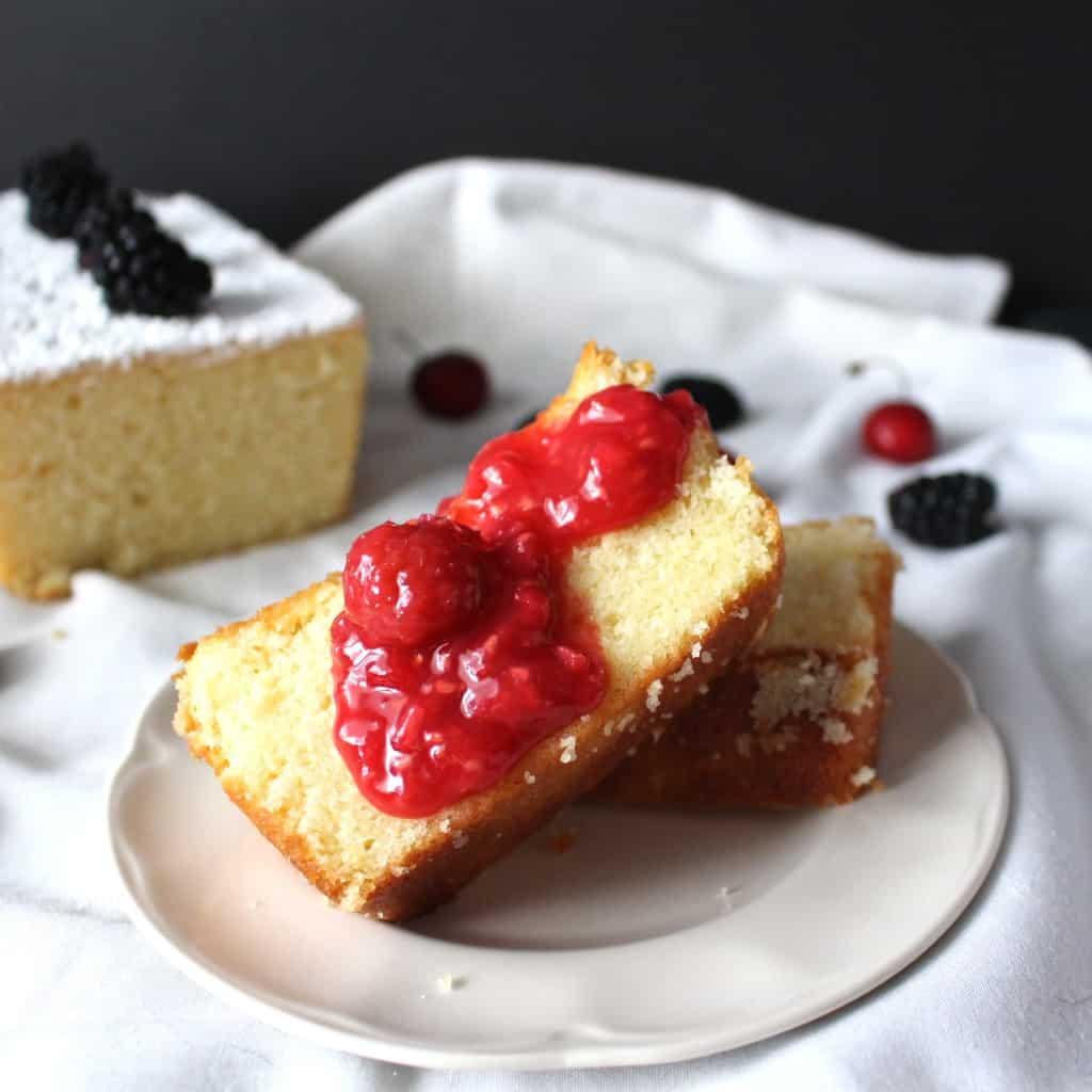 Paleo Strawberry Pound Cake