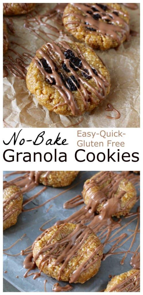 No Bake Granola Cookies