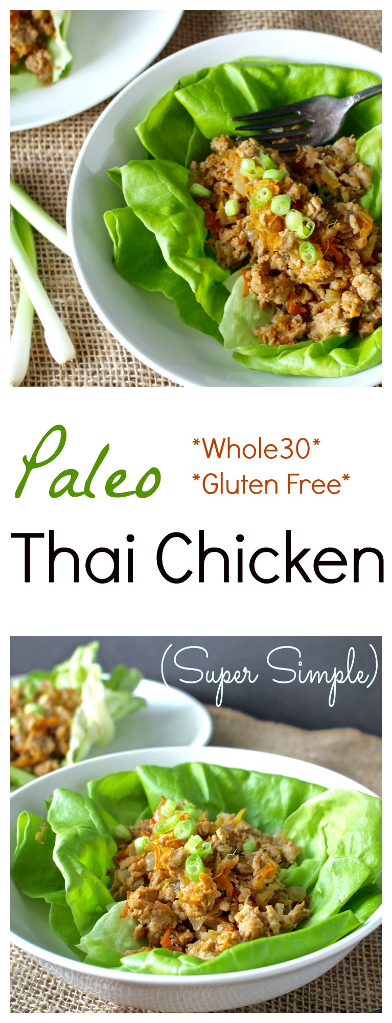 Paleo Thai Chicken- loaded with flavor, made in 20 minutes, and so easy! Whole30 and gluten free!