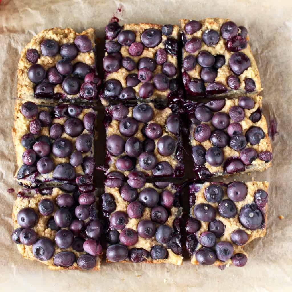 Paleo Blueberry Lemon Bars
