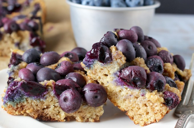 Paleo Blueberry Lemon Bars