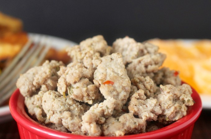 Paleo Chicken Breakfast Sausage