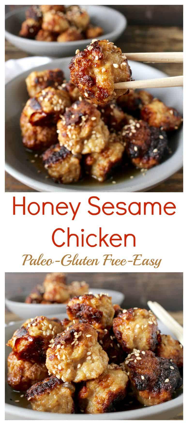 Honey Sesame Chicken (Paleo)