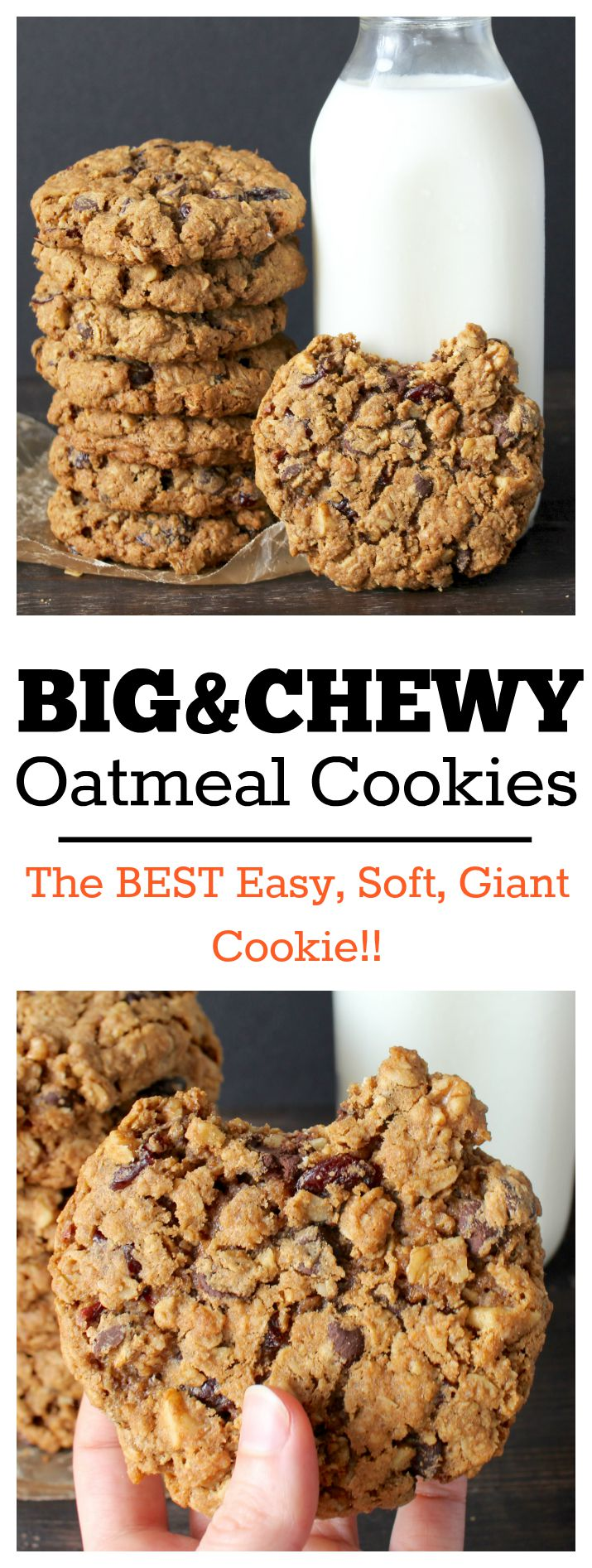 Cookie Recipe With Chocolate Chip Cinnamon And Oatmeal Big Cookies