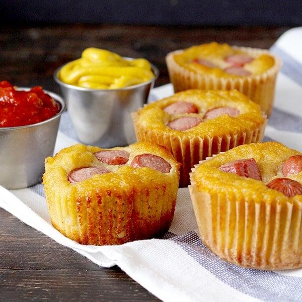Paleo Corn Dog Muffins