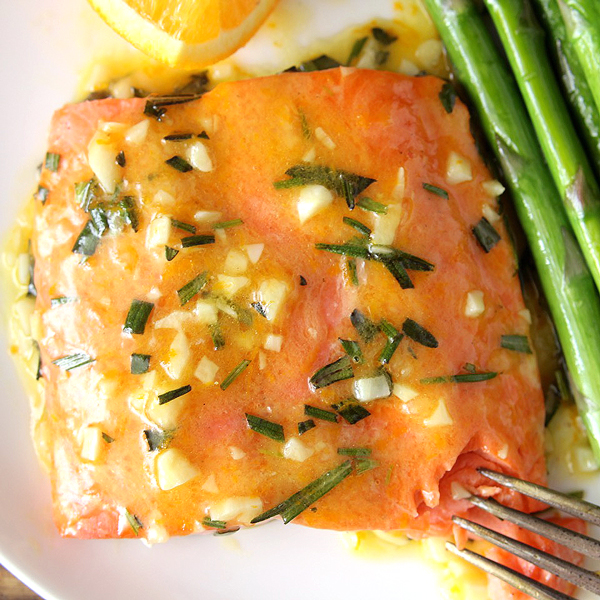 Garlic Orange Glazed Salmon