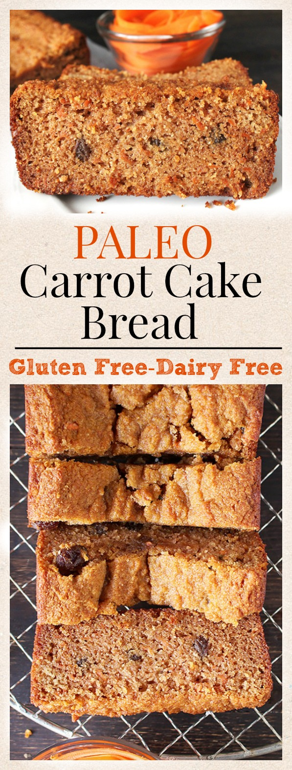 Paleo Carrot Cake Bread