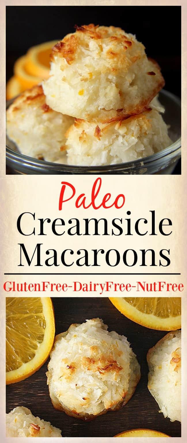 Paleo Creamsicle Macaroons