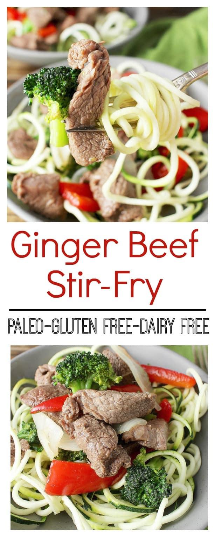 Paleo Ginger Beef Srir-Fry