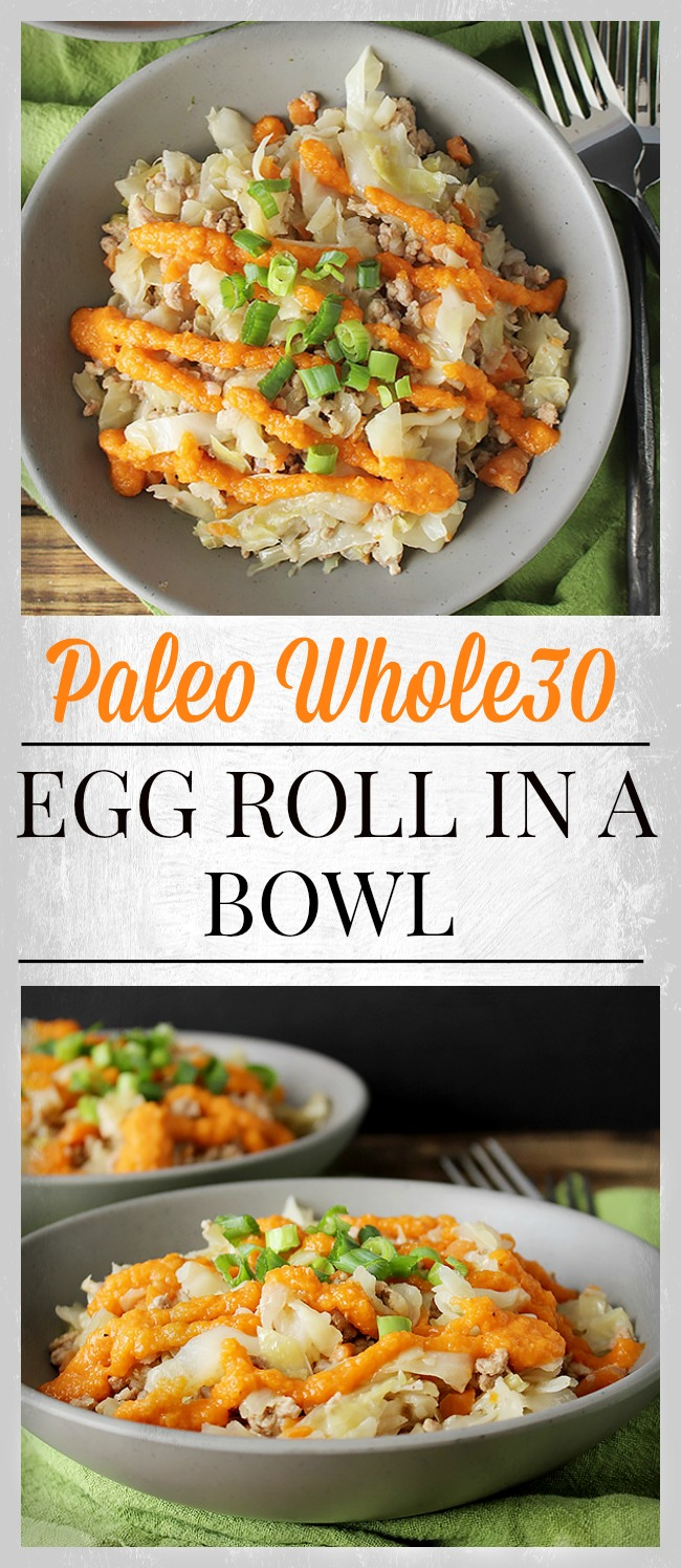 Paleo Whole30 Egg Roll in a Bowl
