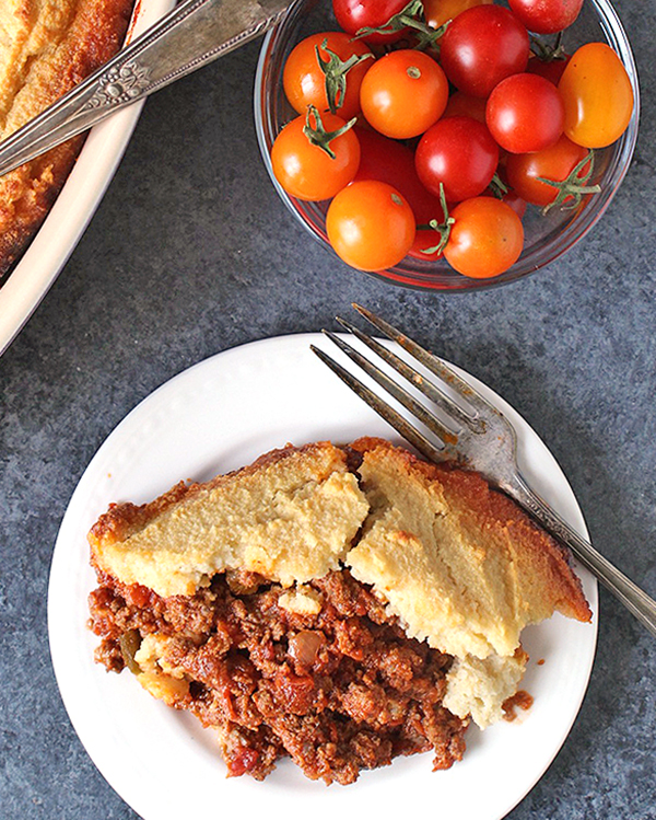 Paleo Cornbread Chili Pie