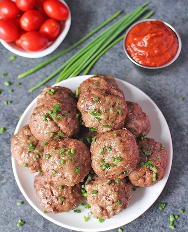 Easy Oven Baked Paleo Meatballs