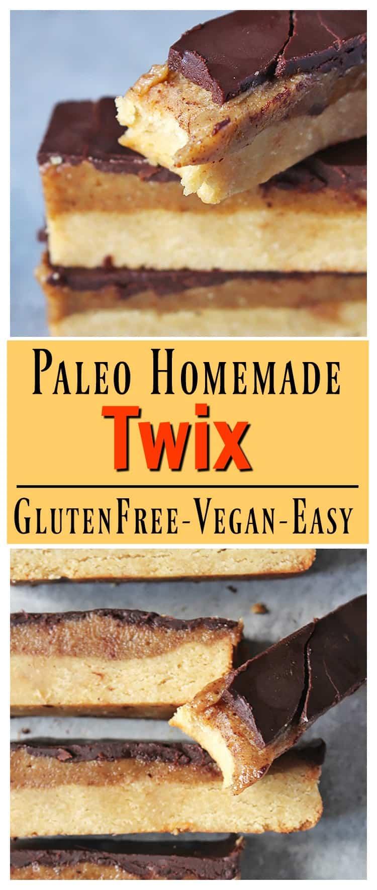 Paleo Homemade Twix Bars