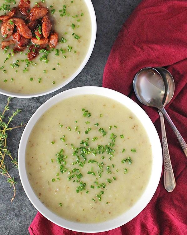 Paleo Creamy Potato Leek Soup