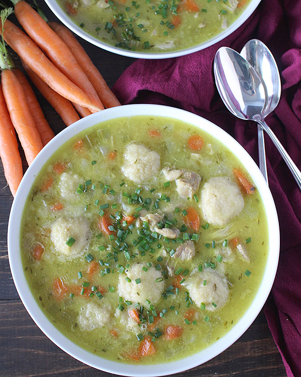 Paleo Chicken and Dumplings Soup