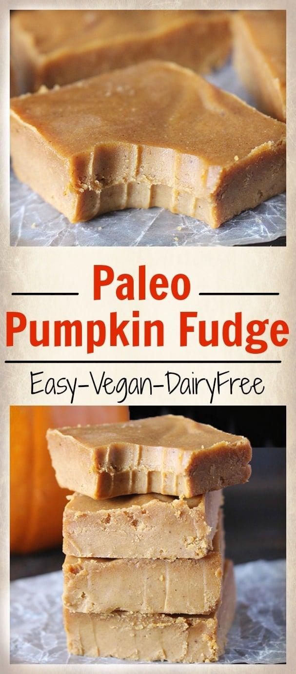 Easy Paleo Pumpkin Fudge