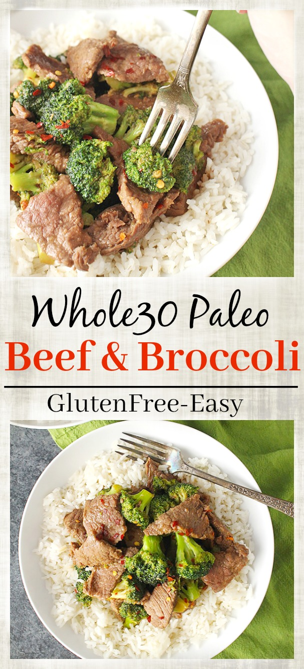 Paleo Whole30 Beef and Broccoli