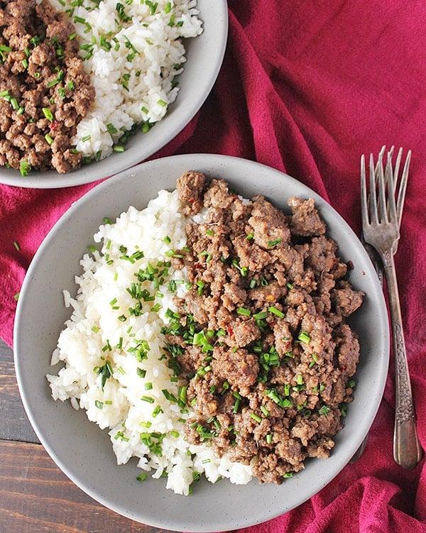 Easy Paleo Korean Beef Bowls