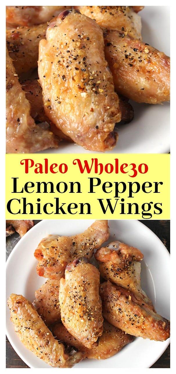Paleo Lemon Pepper Chicken Wings
