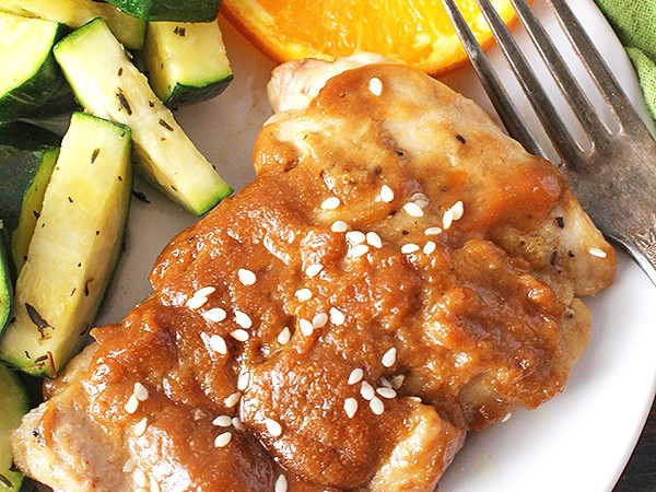 Paleo Sticky Orange Sunflower Chicken