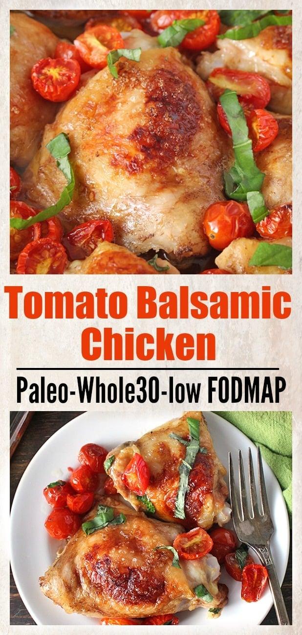 Paleo Tomato Balsamic Chicken