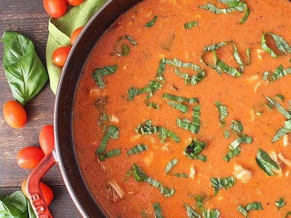 Paleo Creamy Chicken Tomato Soup