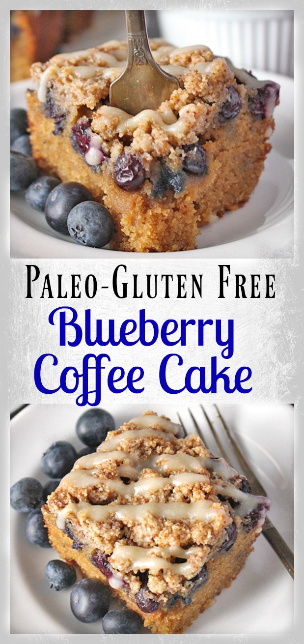 Paleo Gluten Free Blueberry Coffee Cake