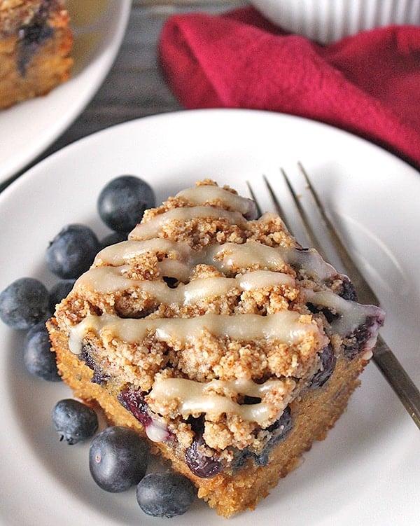 Paleo Blueberry Coffee Cake