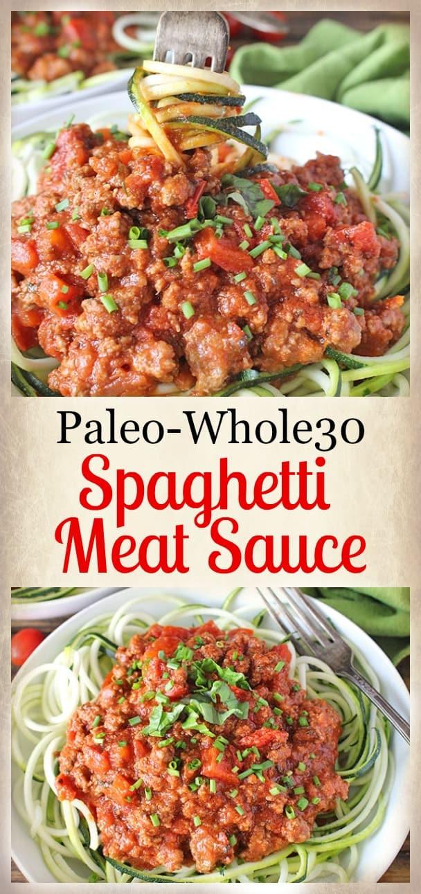 Paleo Whole30 Spaghetti Meat Sauce