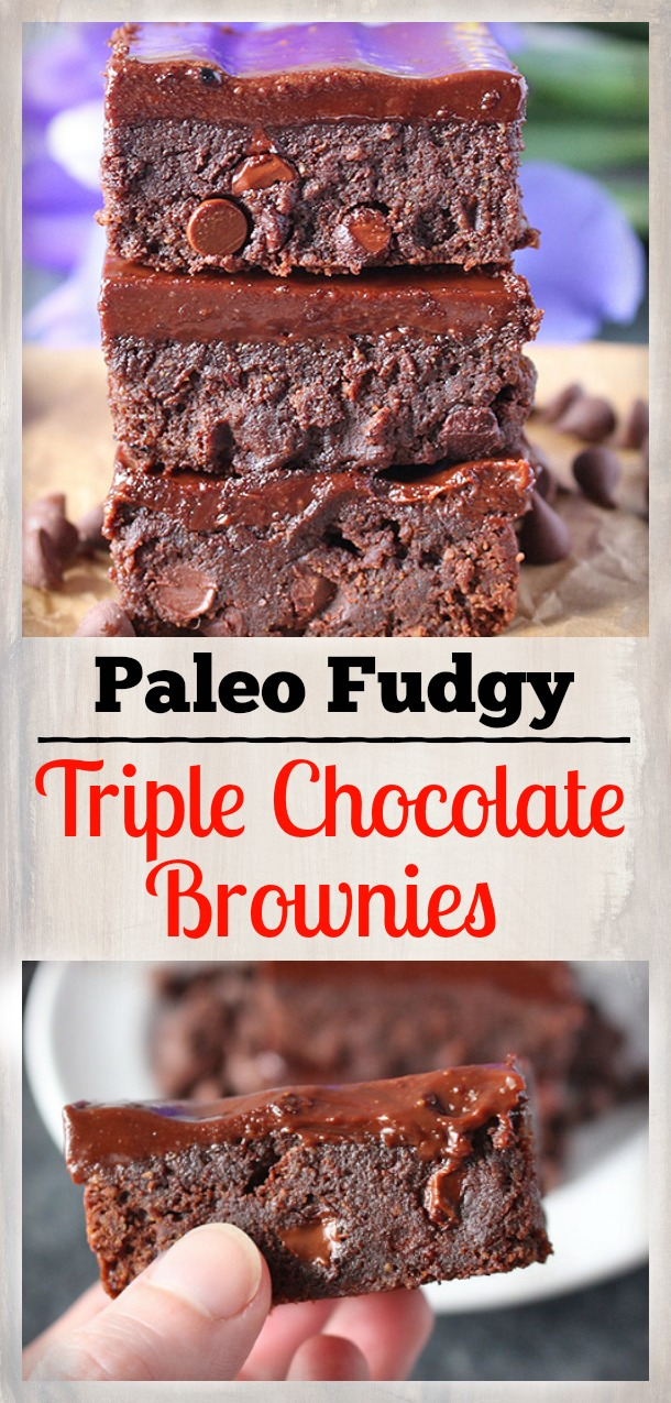 Paleo Triple Chocolate Brownies