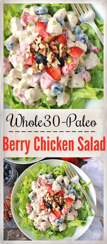 Paleo Whole30 Berry Chicken Salad