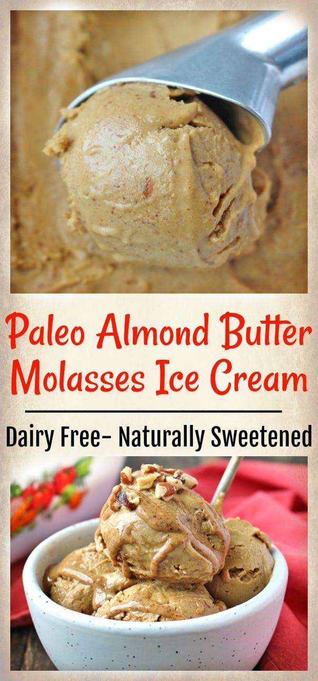 Paleo Almond Butter Molasses Ice Cream