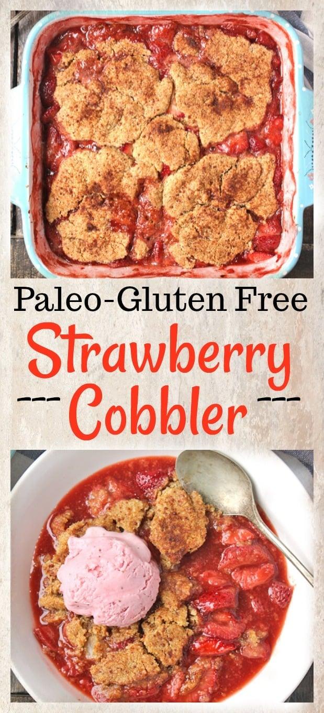 Paleo Strawberry Cobbler