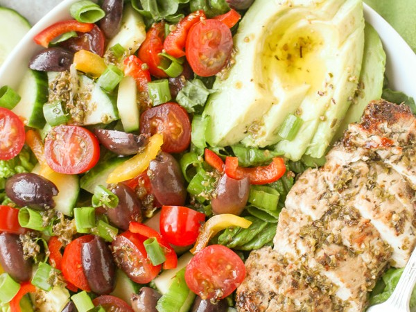Paleo Whole30 Greek Chicken Salad