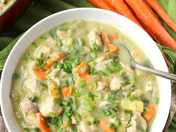 Paleo Whole30 Chicken Pot Pie Soup
