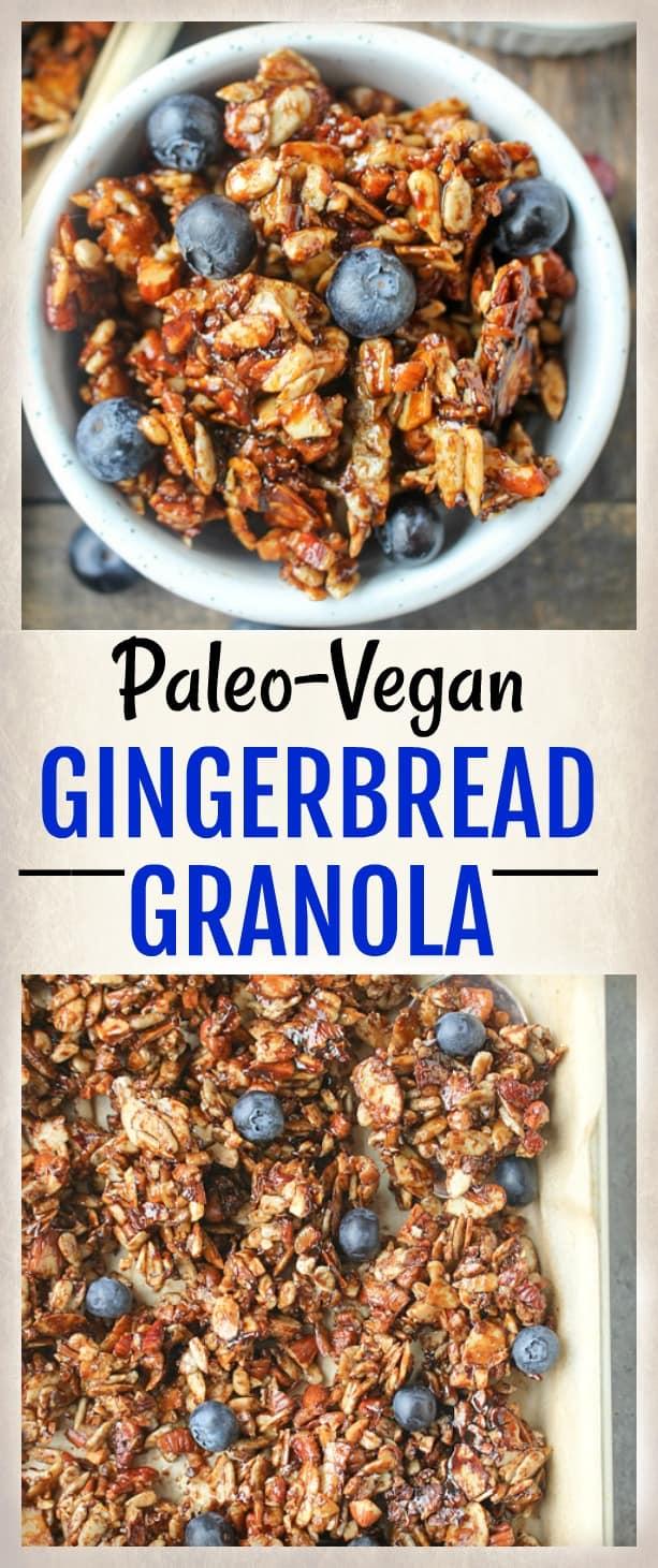Paleo Gingerbread Granola