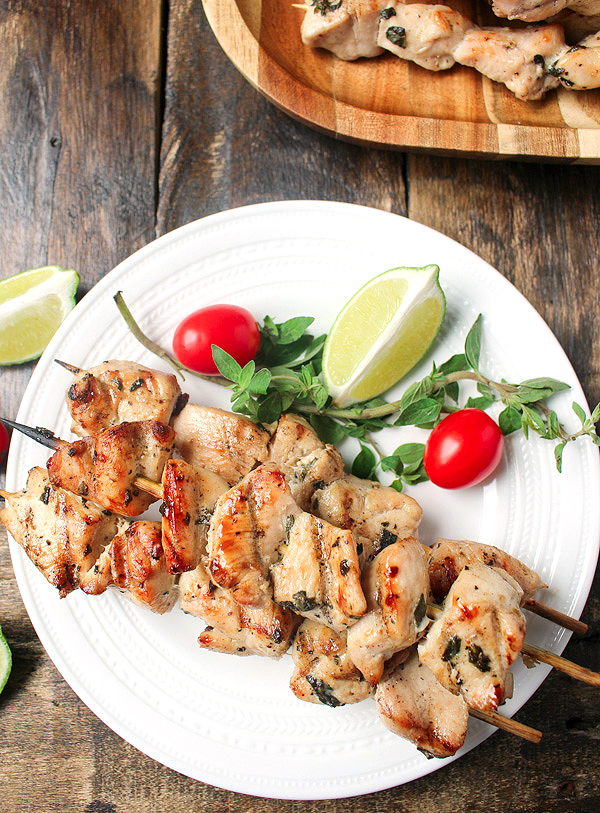 Paleo Grilled Chicken Kabobs