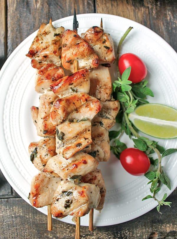 Paleo Grilled Chicken Kabobs