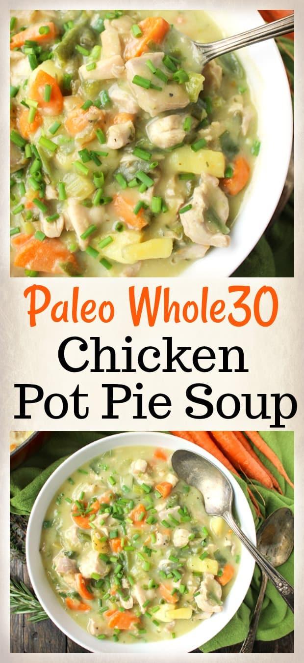 Paleo Whole30 Pot Pie Soup