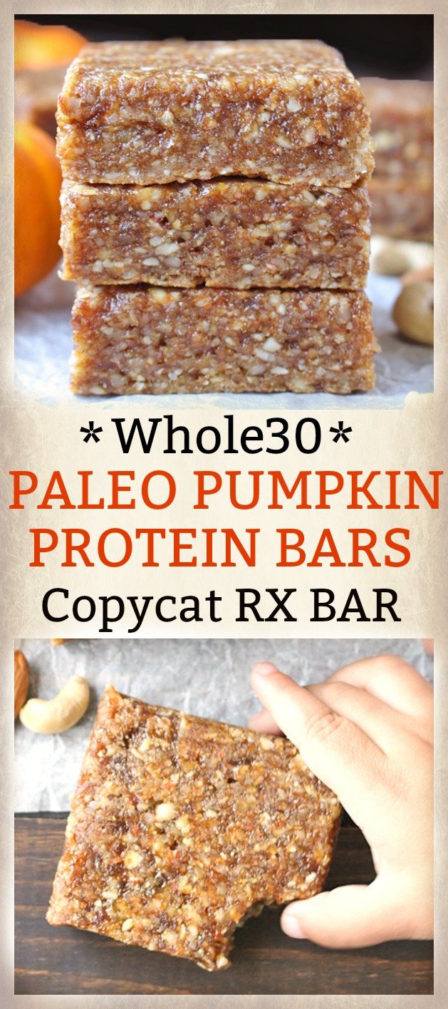 Paleo Pumpkin Protein Bars Copycat RXBar