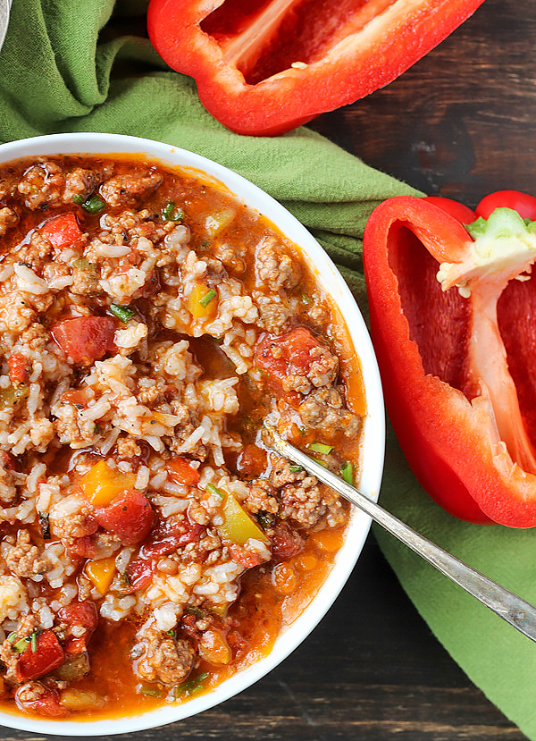 Paleo Whole30 Stuffed Pepper Soup