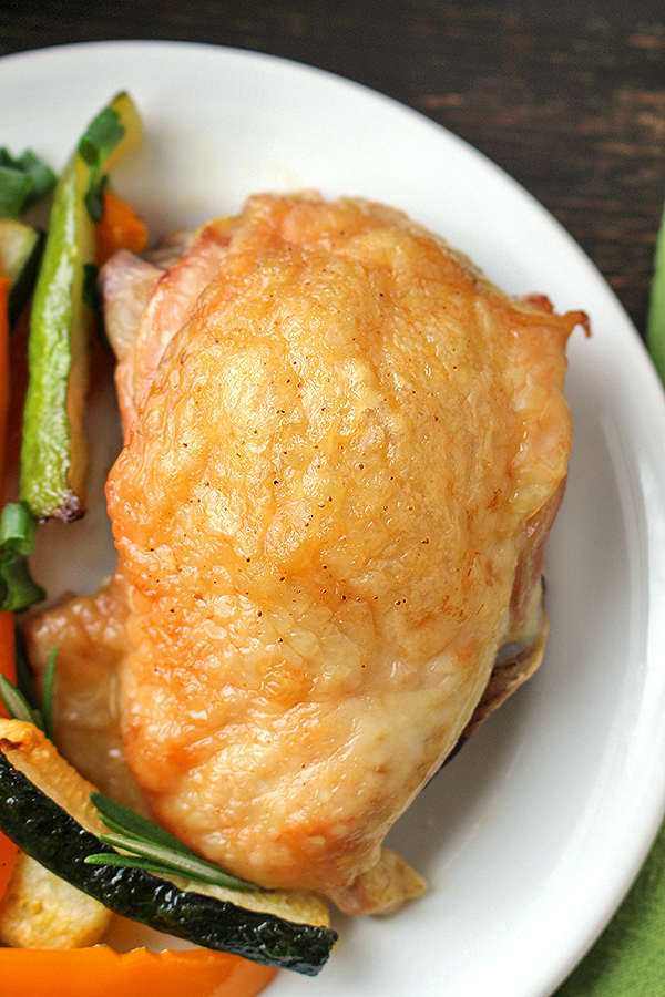 Paleo Crispy Chicken Thigh and Vegetable Sheet Pan Dinner ...
