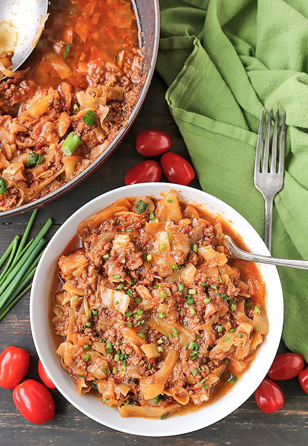 This Paleo Whole30 Cabbage Roll in a Bowl is a fun way to enjoy cabbage rolls without all the work. A quick, healthy dinner that is gluten free, dairy free, and so delicious!