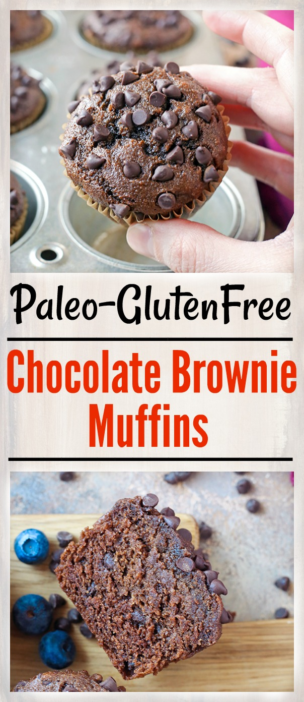 These Paleo Chocolate Brownie Muffins are so easy to make and incredibly delicious! Rich, moist, and packed with chocolate. They are gluten free, dairy free, naturally sweetened, and loved by everyone!