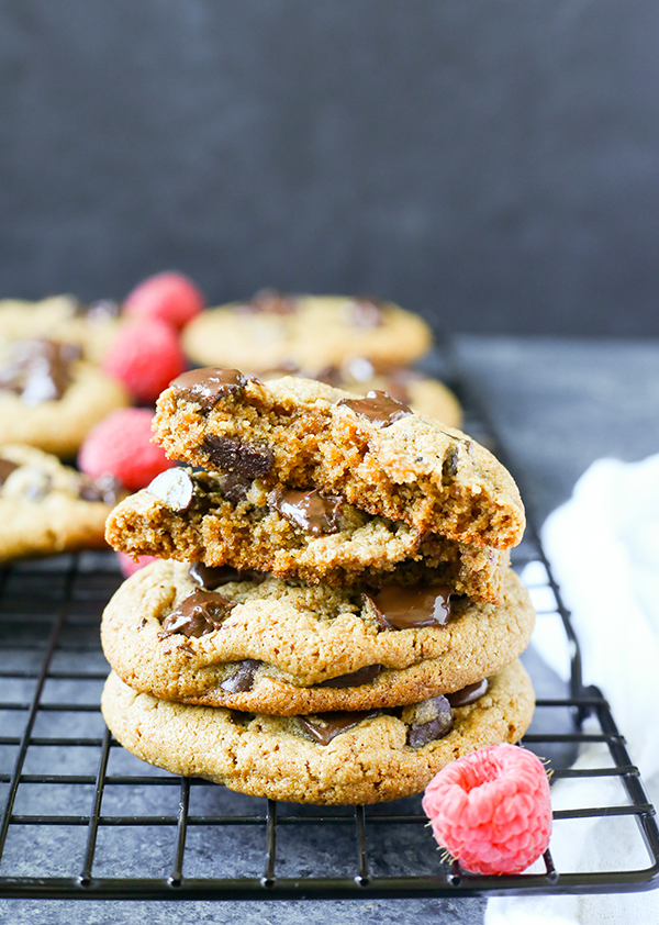 The Best Paleo Chocolate Chip Cookies! The perfect taste and texture and no one will be able to tell they're healthy! Gluten free, dairy free, and naturally sweetened. These are a must-make!