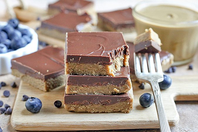 Paleo No-Bake Nut-Free SunButter Chocolate Bars