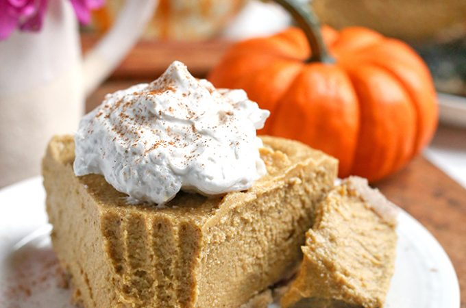 Paleo Vegan Pumpkin Cheesecake